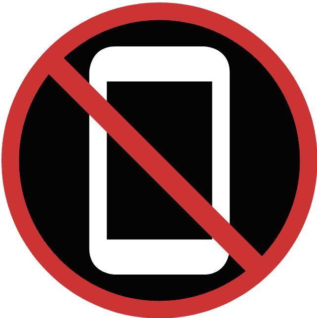 no phone symbol circle and cross