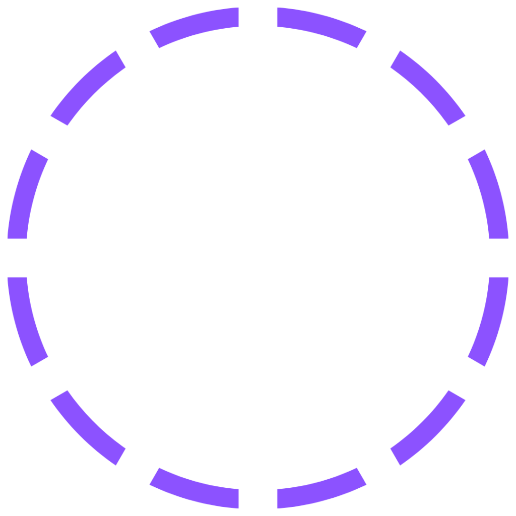 dotted line circle purple
