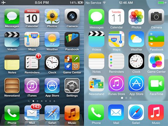 apple phone menu