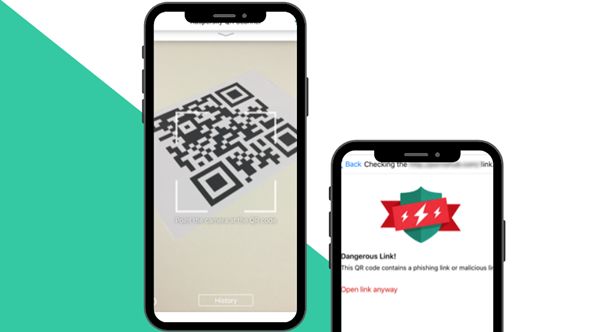 Kaspersky's free QR Code reader app for Android and iPhone