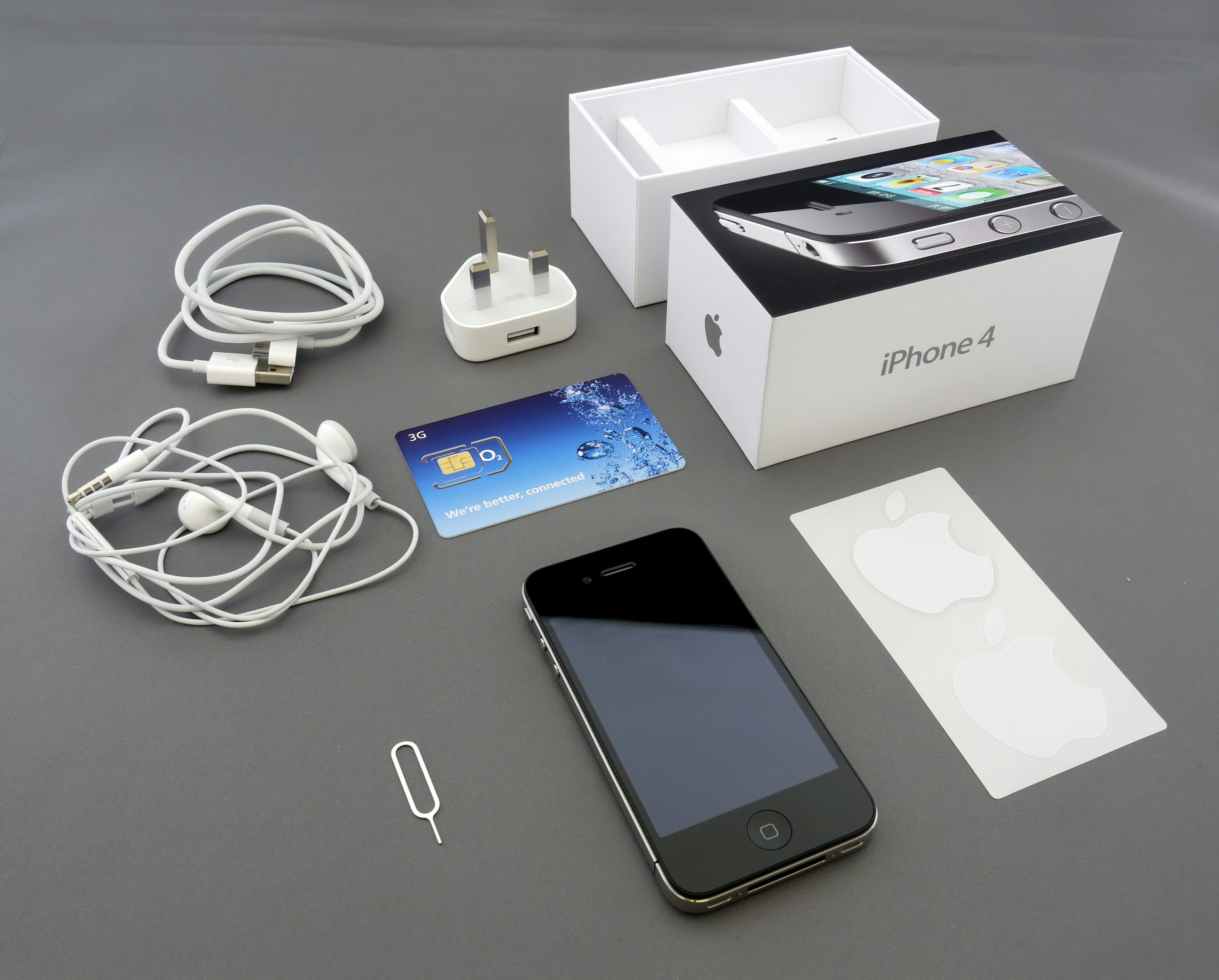black iPhone 5 with box