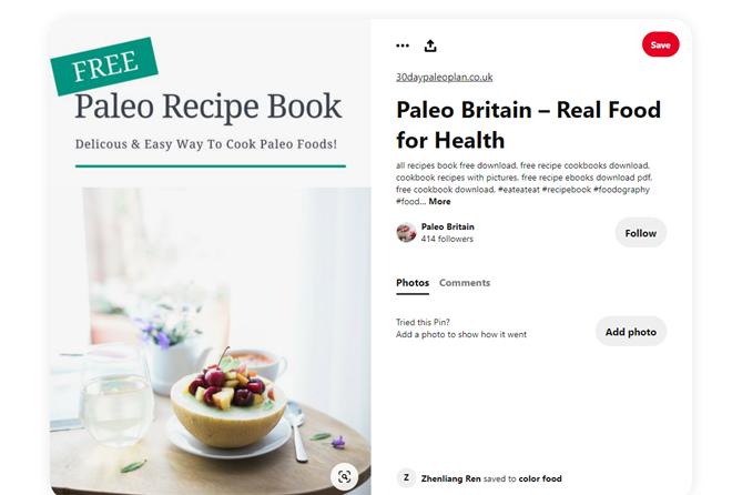 Paleo recipe book cover