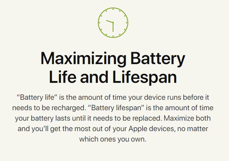 Battery Life Maximizing Information