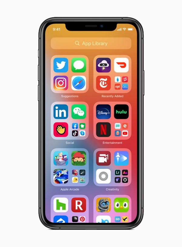 iOS 14 screenshot