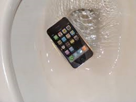iPhone 7 dropped in commode