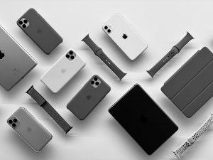 iphone 12 ipad display on white table