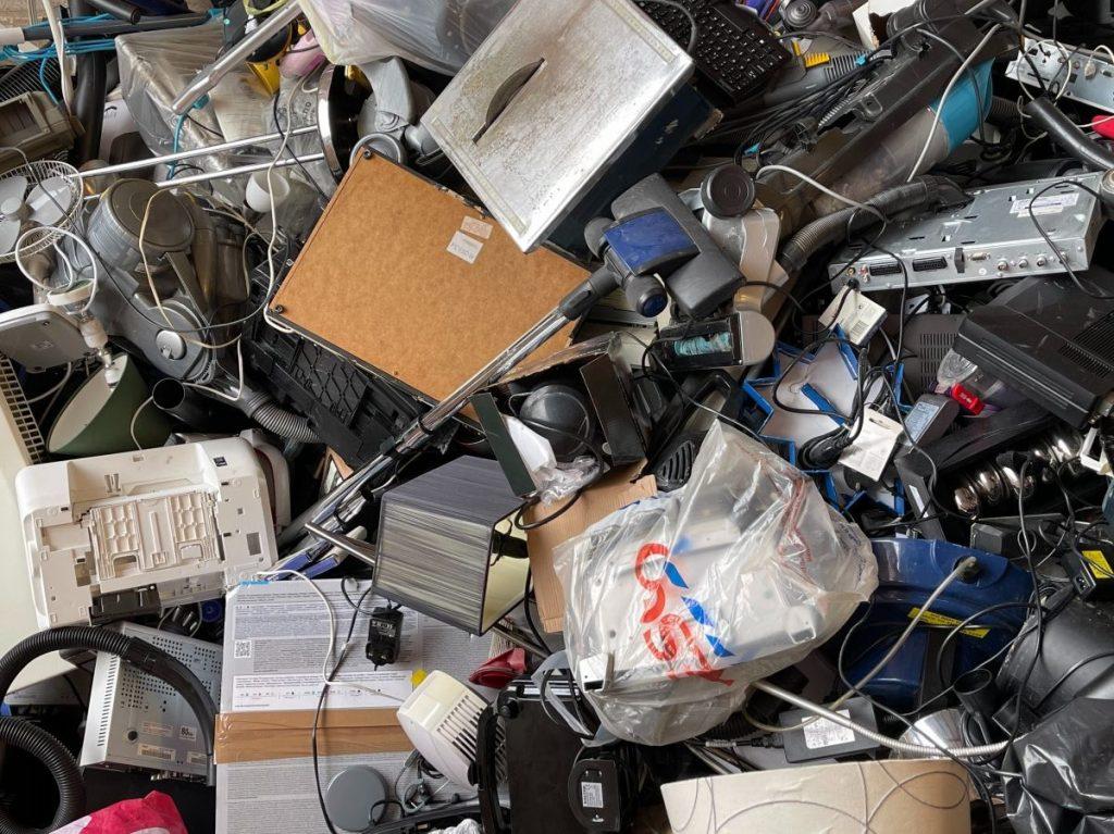 mountain of e-waste