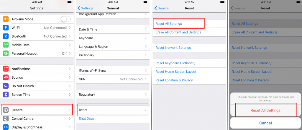 how to reset all settings on iphone screenshot step by step solve iphone gets hot